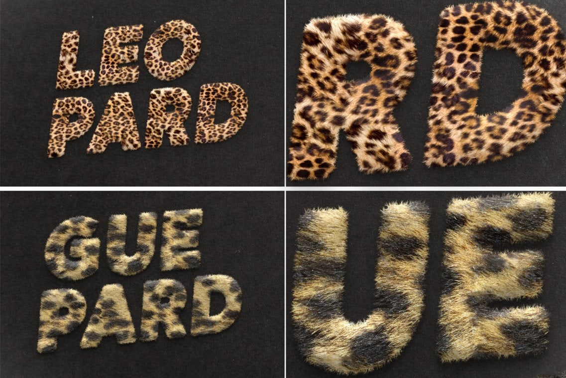 Fur Styles Actions Brushes Leopard and Guepard Fur