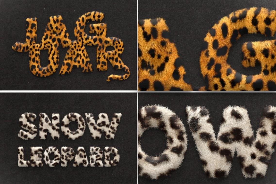 Fur Styles Actions Brushes Jaguar and Snow leopard fur