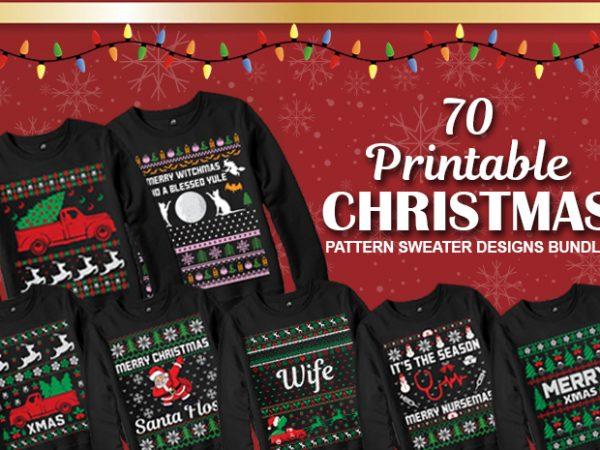 70 Ugly Christmas Sweater Designs Bundle