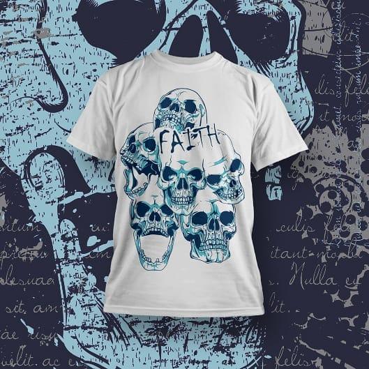 Skulls Bones T-shirt Designs for POD