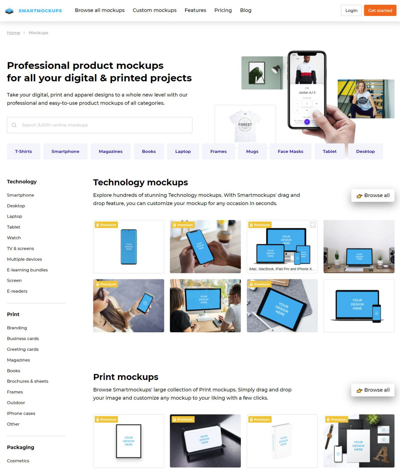 Create Online Mockups with Smartmockups