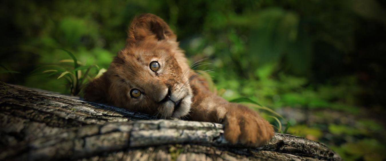 lion cub cutie - Daz Studio - by Gogger