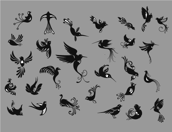 Free Birds Vector Pack Download