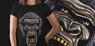 Free Gorilla T-shirt Design