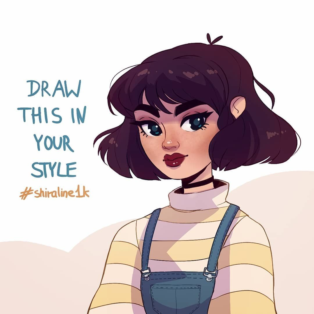 Draw This in Your Style Art Challenge #shiraline1k