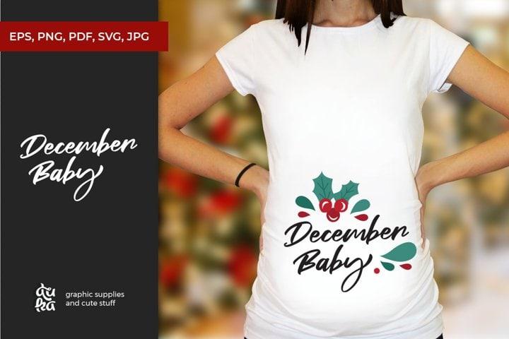 December Baby   Christmas SVG   Free Christmas Design