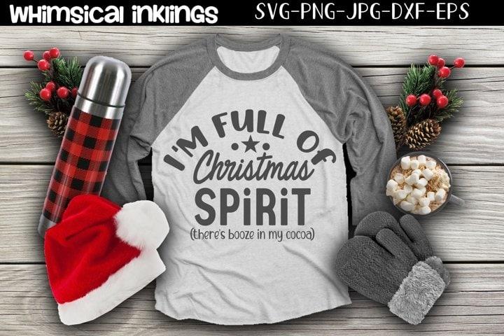 Full of Christmas Spirit - free Christmas design