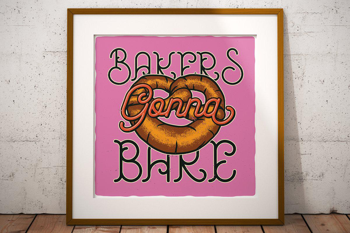 Bakehouse Label Font By Vozzy Vintage Fonts