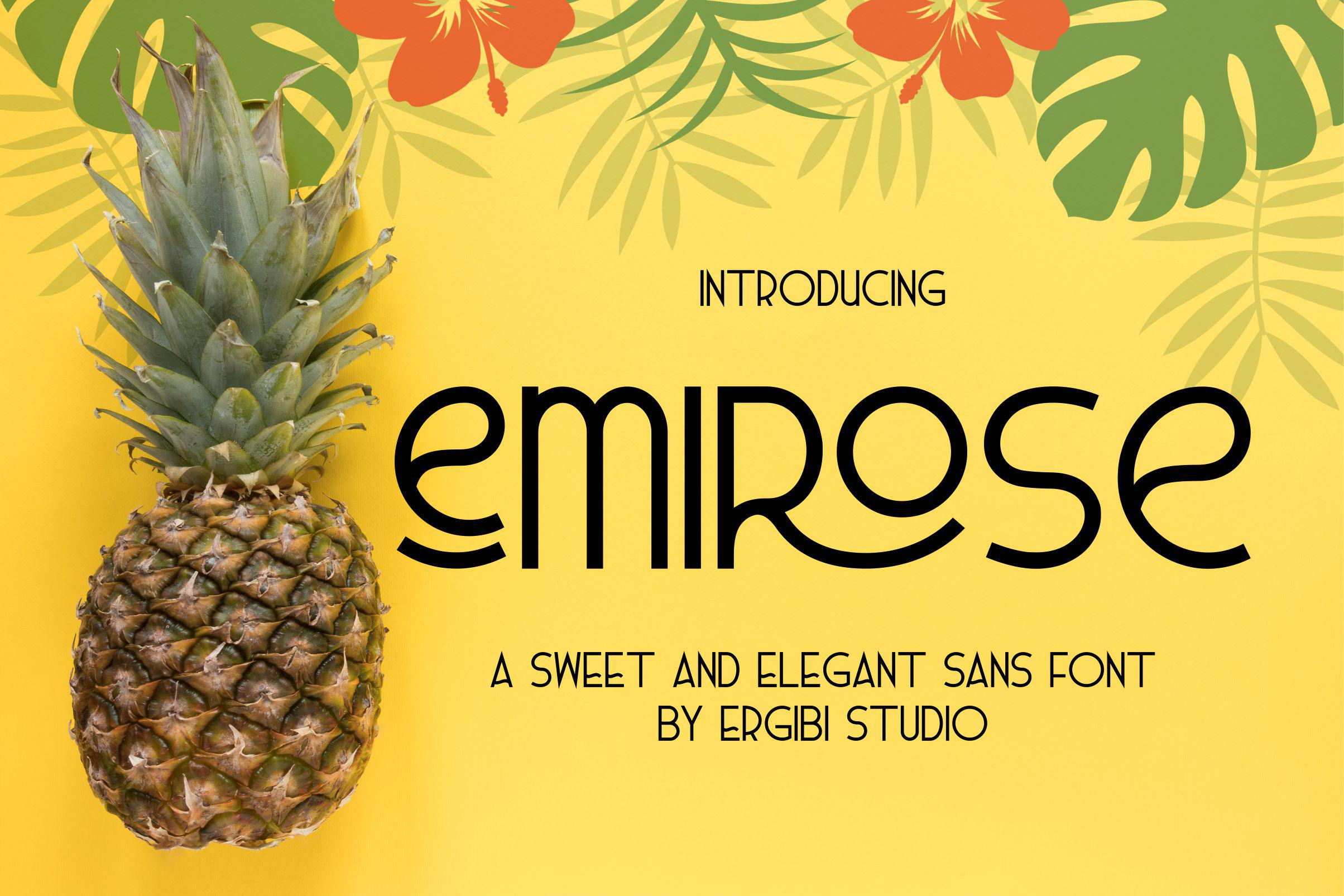 Emirose Font by ErgibiStudio