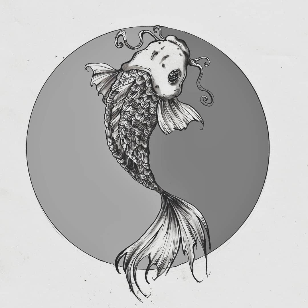 Inktober Fish - panxiart