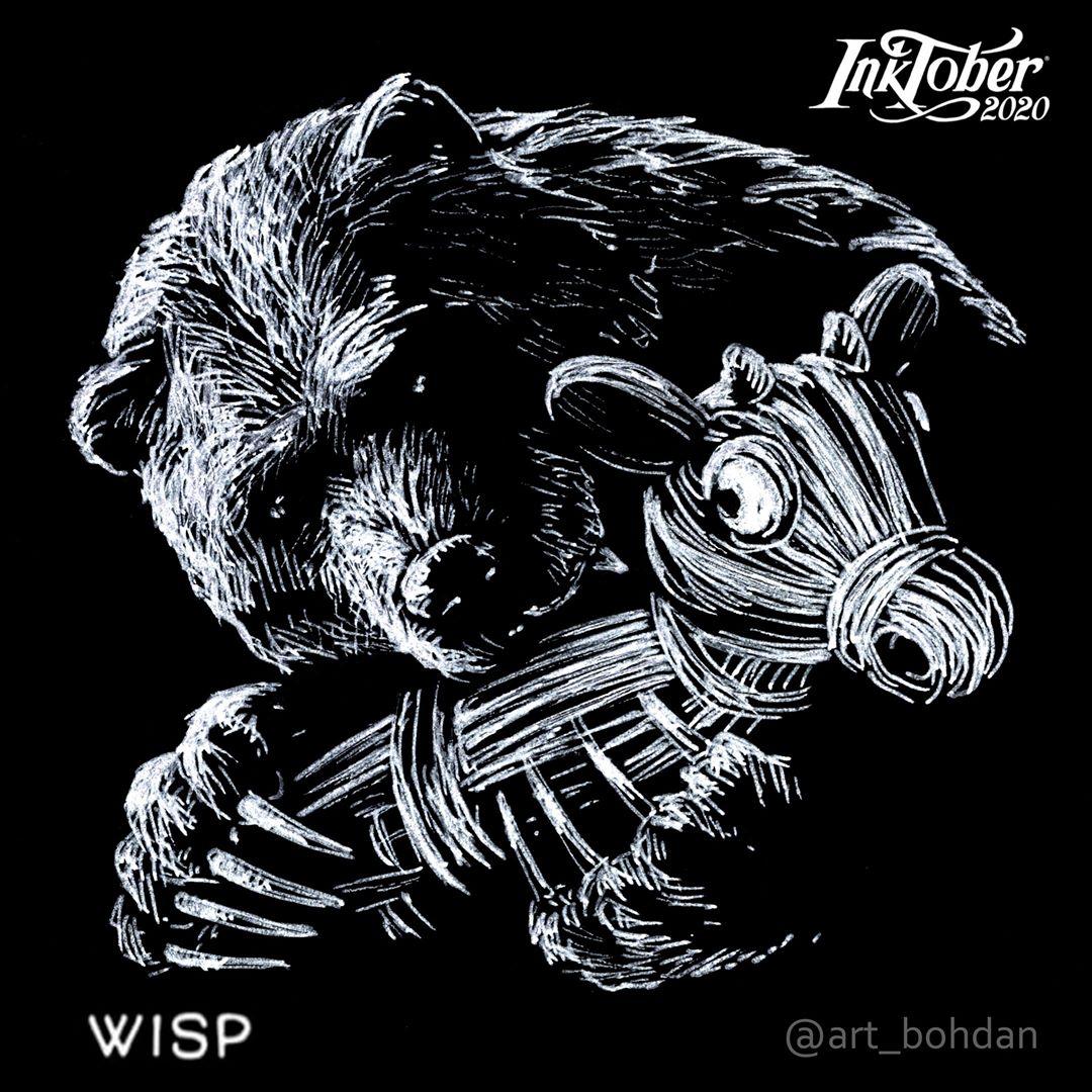 Inktober Wisp - art_bohdan