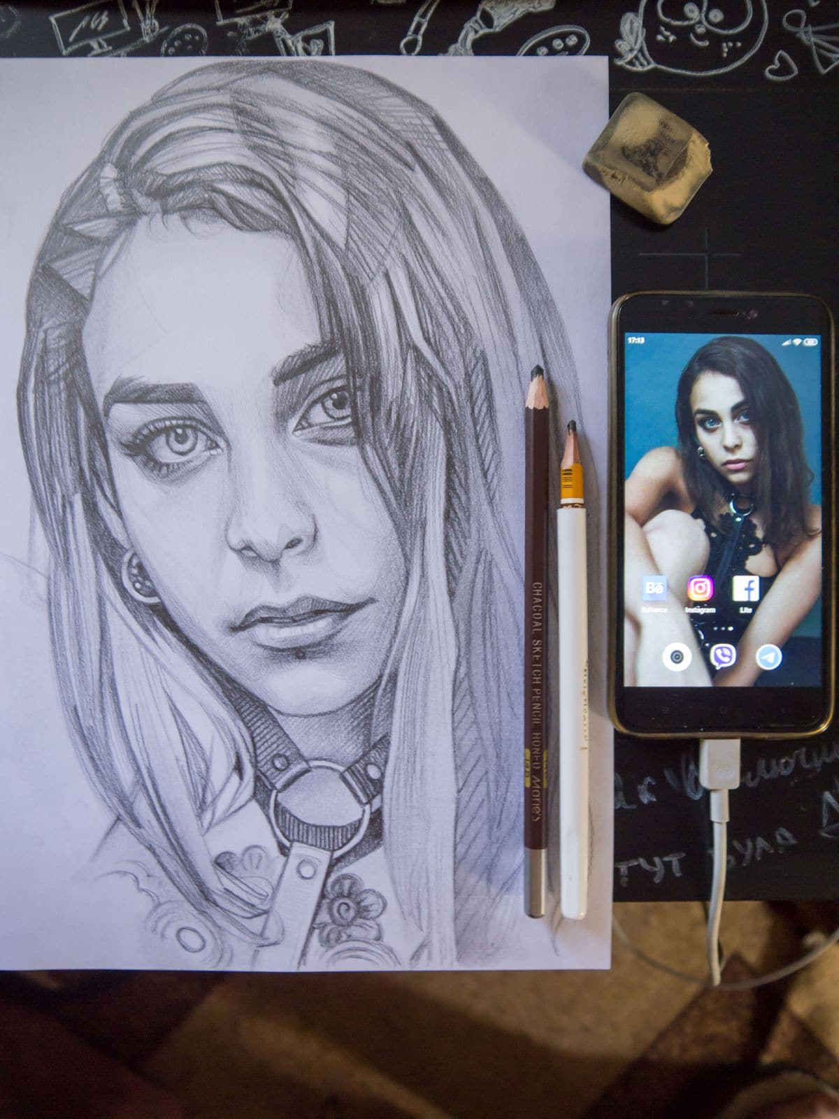 Using Internet and Instagram for drawing by Alexandr Zalevsky