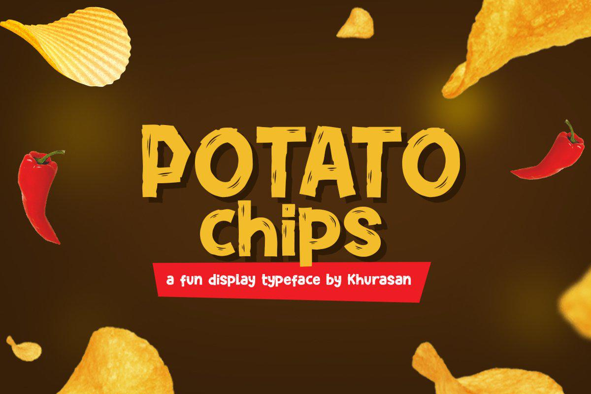 Potato Chip Font By Khurasan Studio