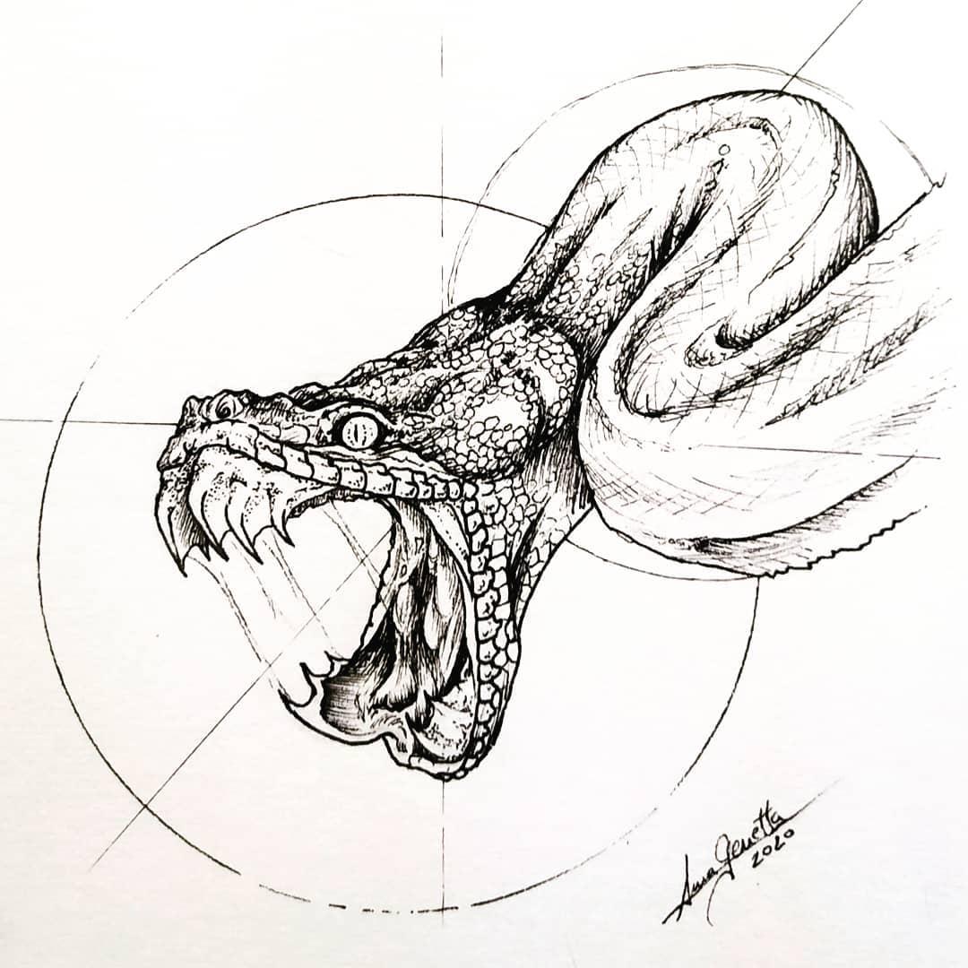 Inktober 2020 - Teeth - annagenetta.art