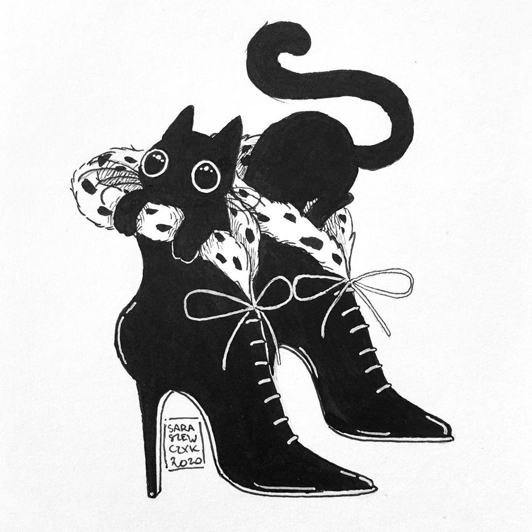 Inktober 2020 - Shoes - ilustratorium.sara