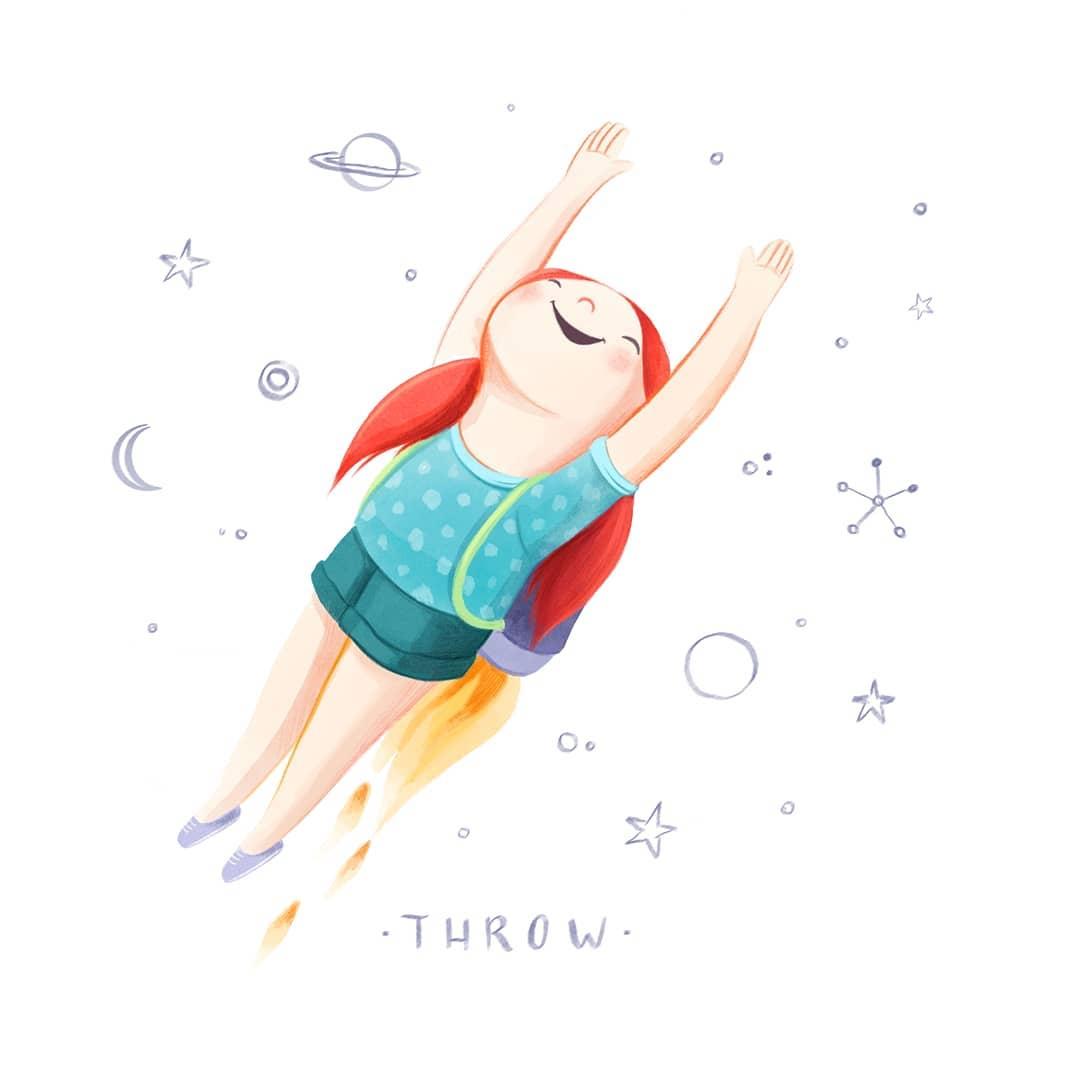 Inktober 2020 - Throw - irenebofill_ilustracion