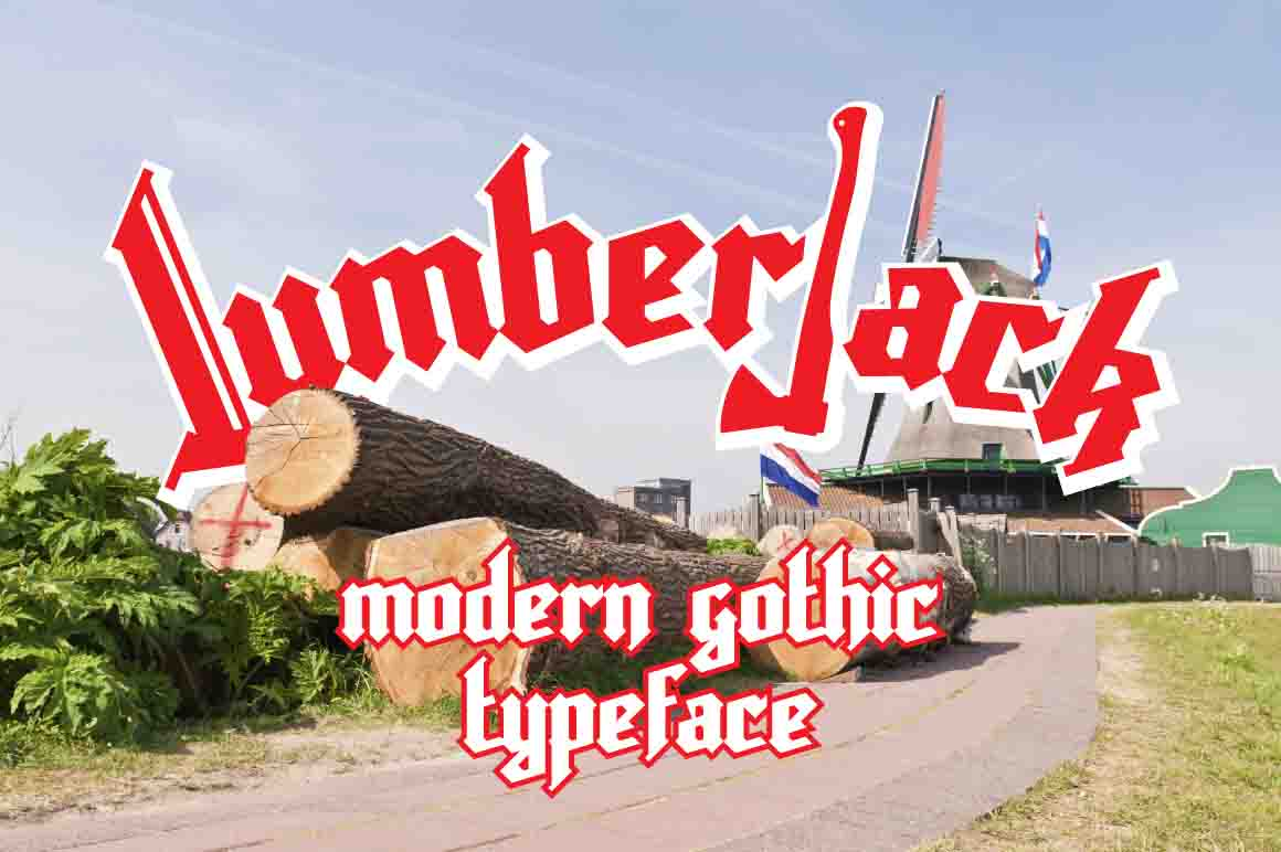 Lumberjack gothic font