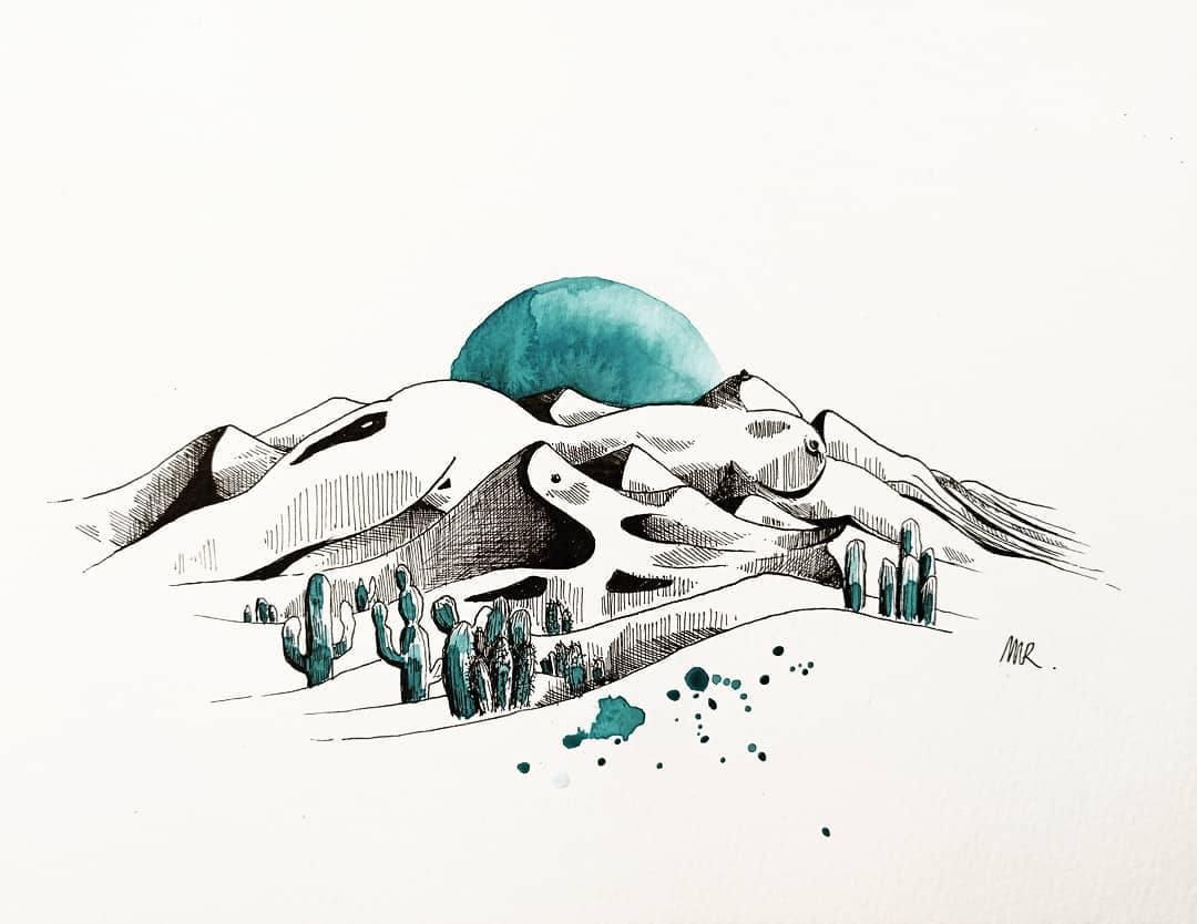 Inktober 2020 - Dune - mr.gribouilleee