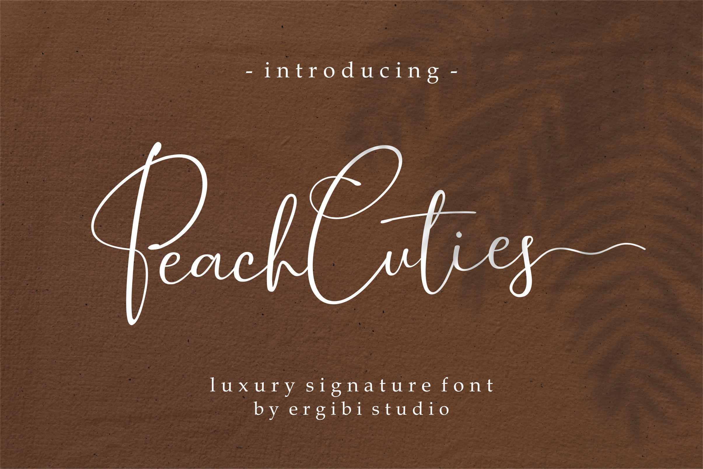 Peach Cuties by ErgibiStudio
