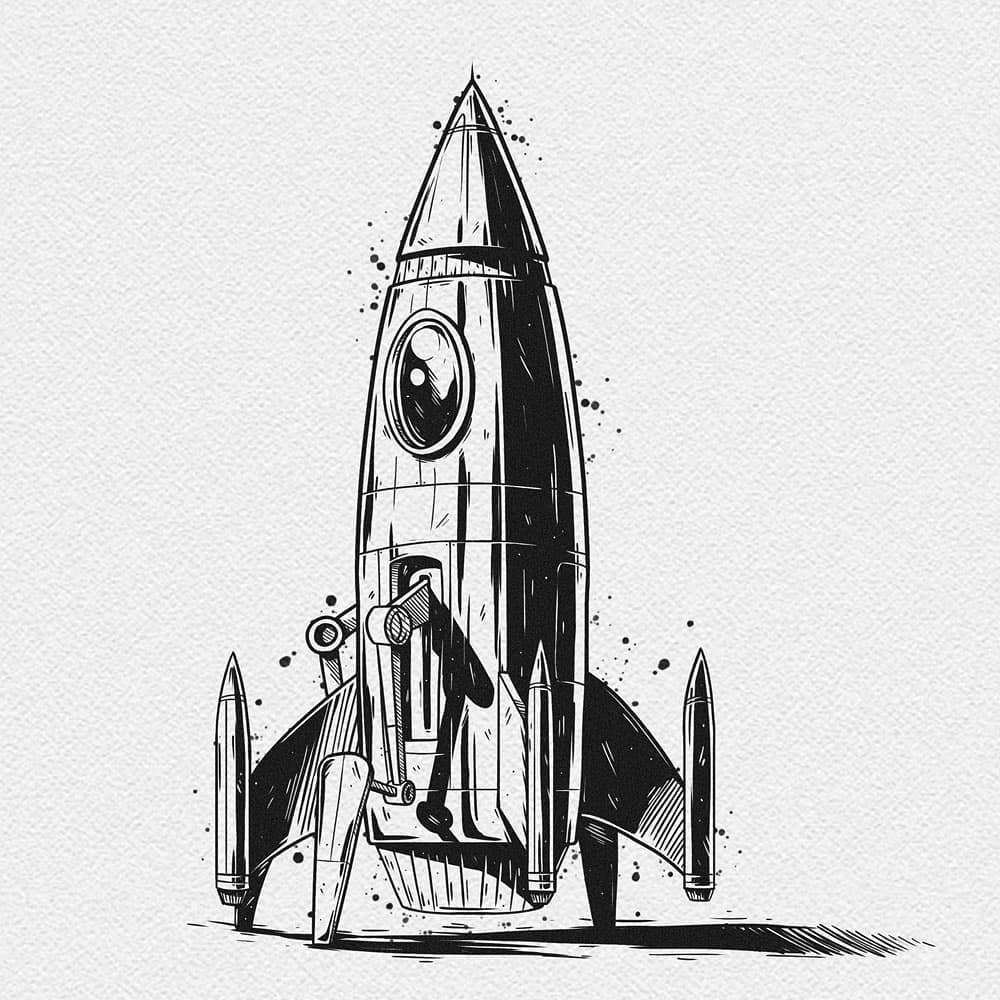 Inktober 2020 - Rocket - quintocestudio