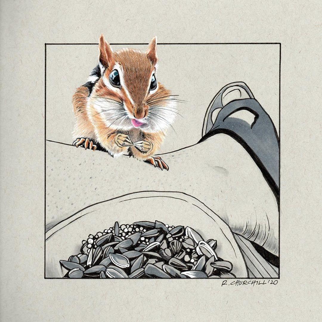 Inktober 2020 - Rodent - ronchurchill.art