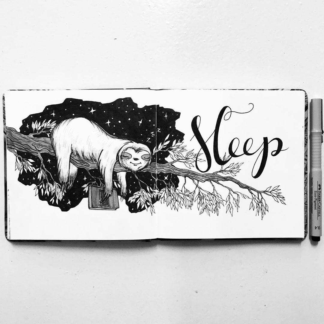 Inktober 2020 - Sleep- shinkareva_draw