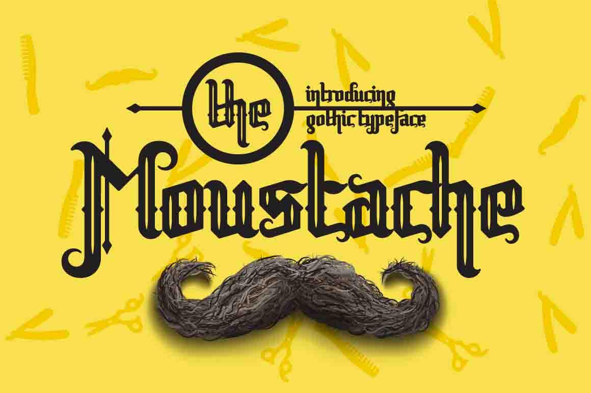 The moustache font