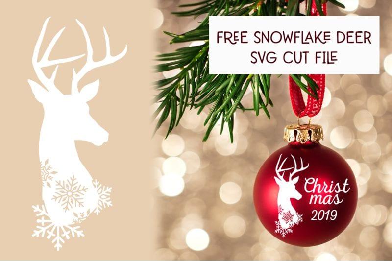 Free Snowflake Deer SVG