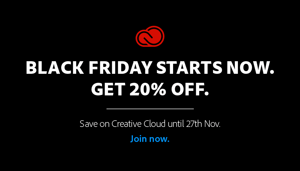 Adobe Black Friday 2020 / Adobe Cyber Monday 2020
