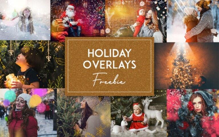 FREE – 10 Holiday Overlays