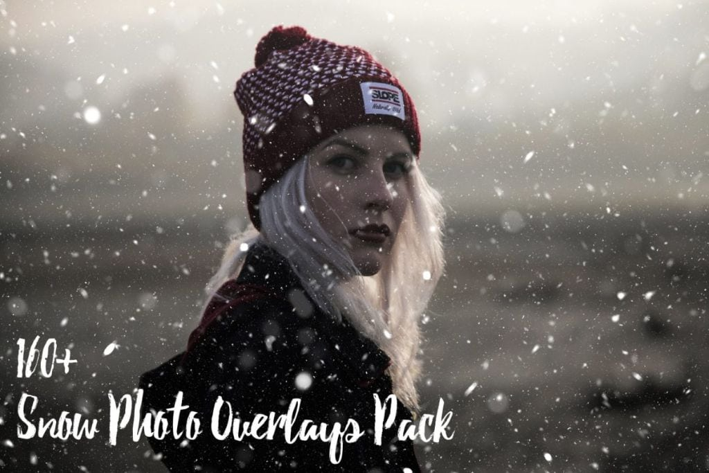 160 Free Snow Overlays Bundle