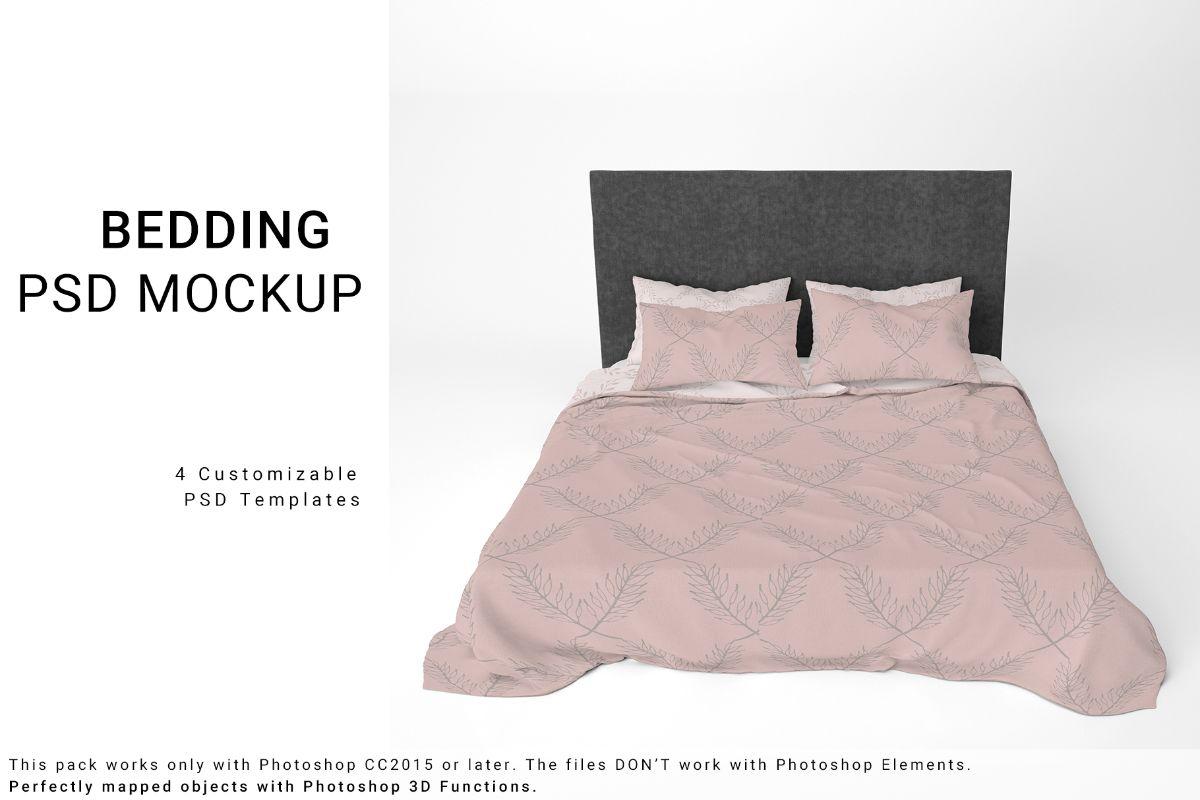 Free Bed Linens Mockup Set