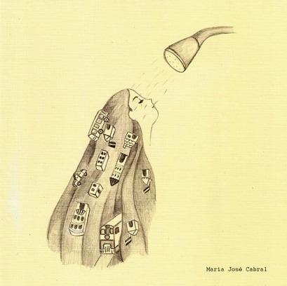 María José Cabral - Showering Girl Artwork