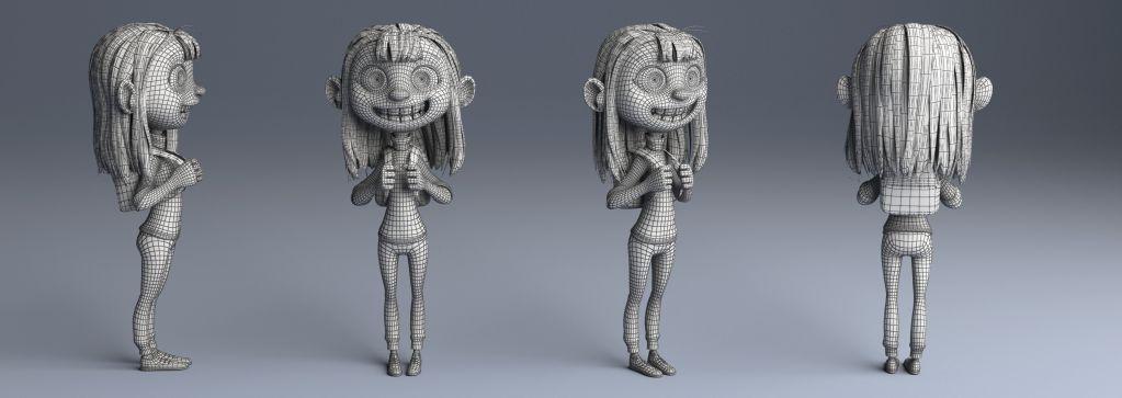 Fantasy 3d Girl Wireframe by Eider Astigarraga