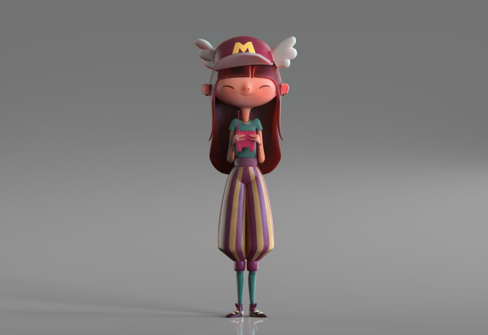 Fantasy 3d Girl Model by Eider Astigarraga