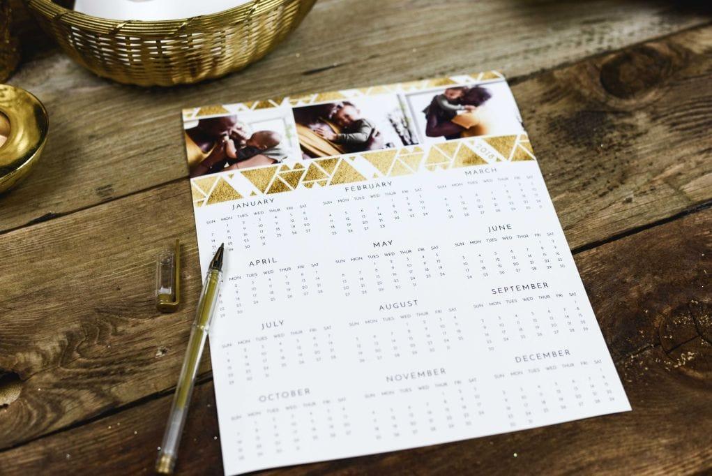 Photographer calendar promotion