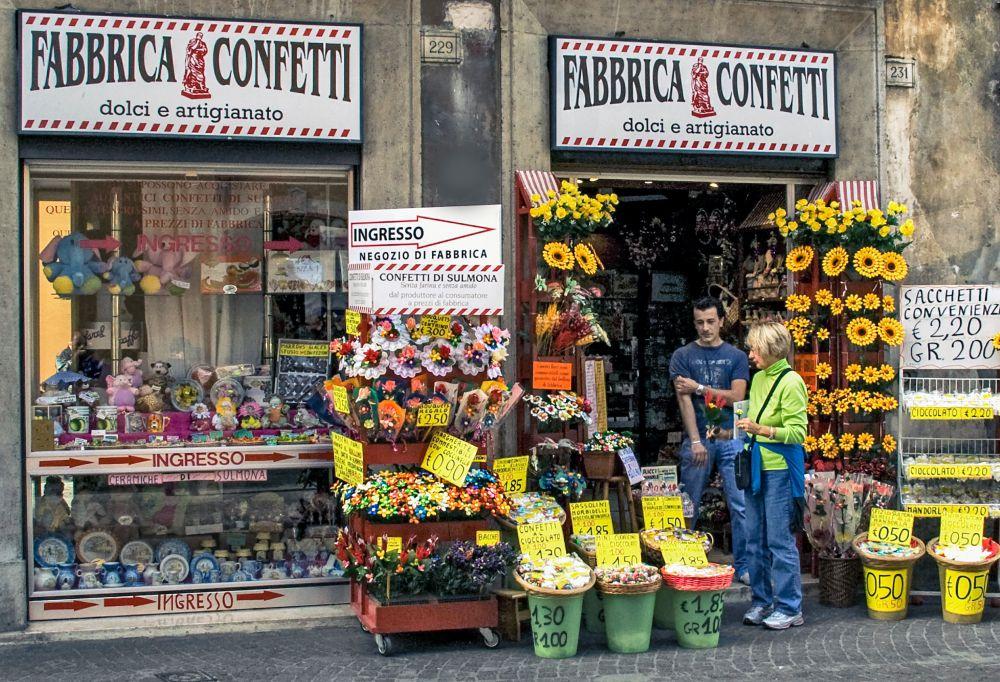 Colourful Flowershop Storefront