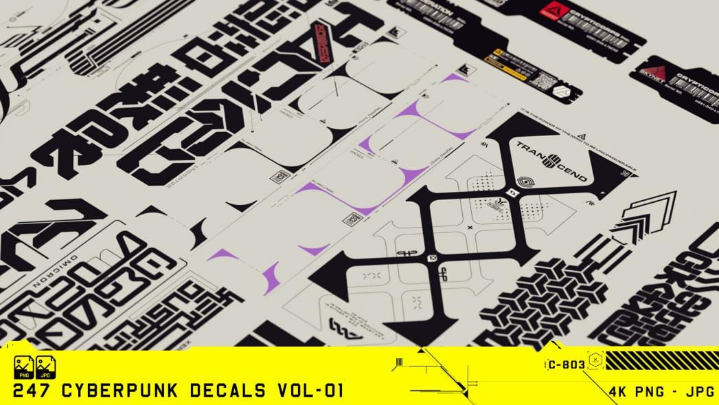 247 Cyberpunk Decals Pack