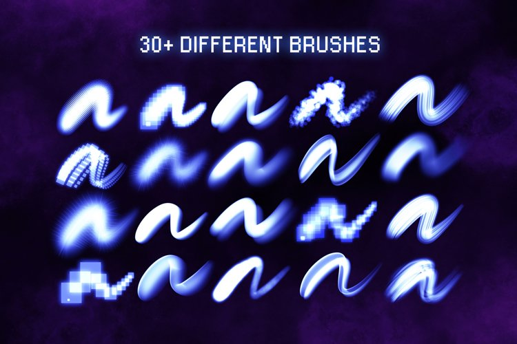 30 Procreate Glow Brushes 2