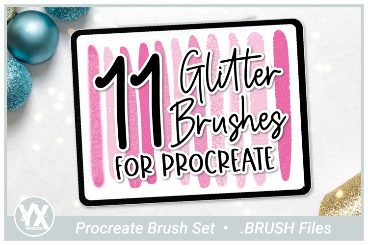 11 Glitter Brushes for Procreate