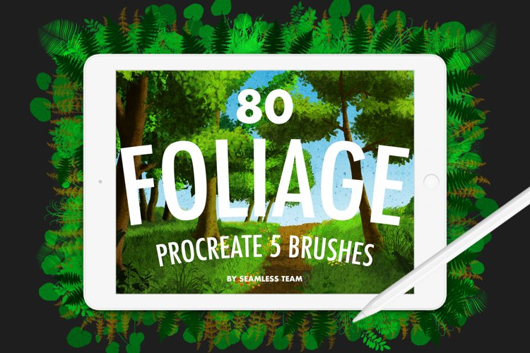 80 Foliage Brushes for Procreate