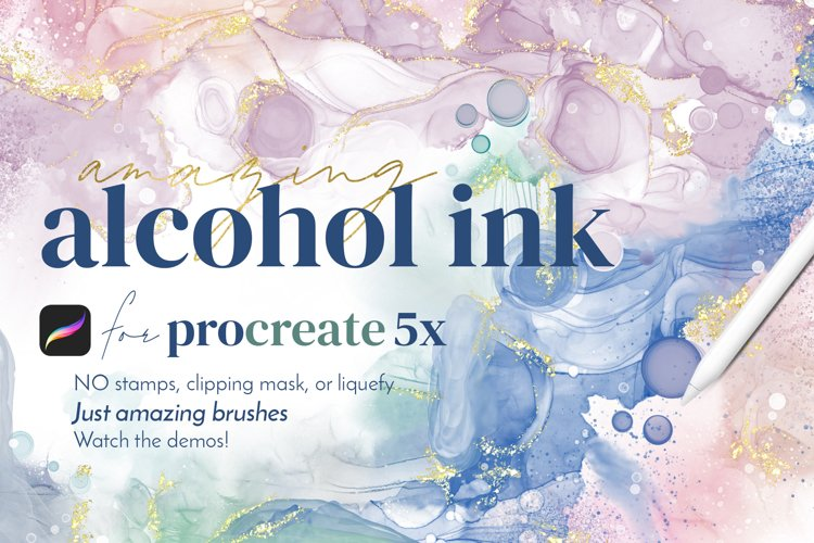 Alcohol Ink For Procreate Brushes