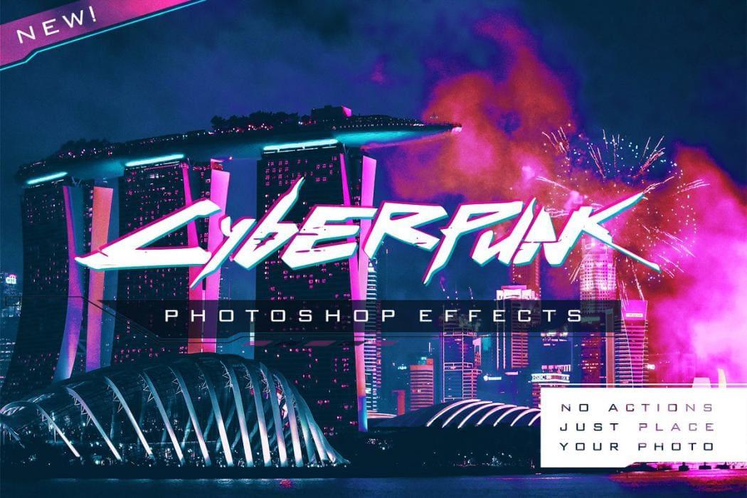 Cyberpunk Photoshop Effects