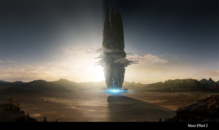 Mass Effect 2 cinematic Matte Painting