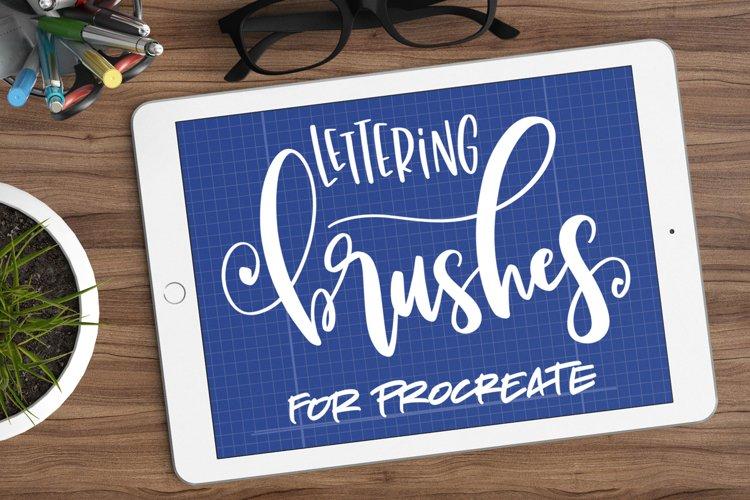 Nine Procreate Brushes for Lettering