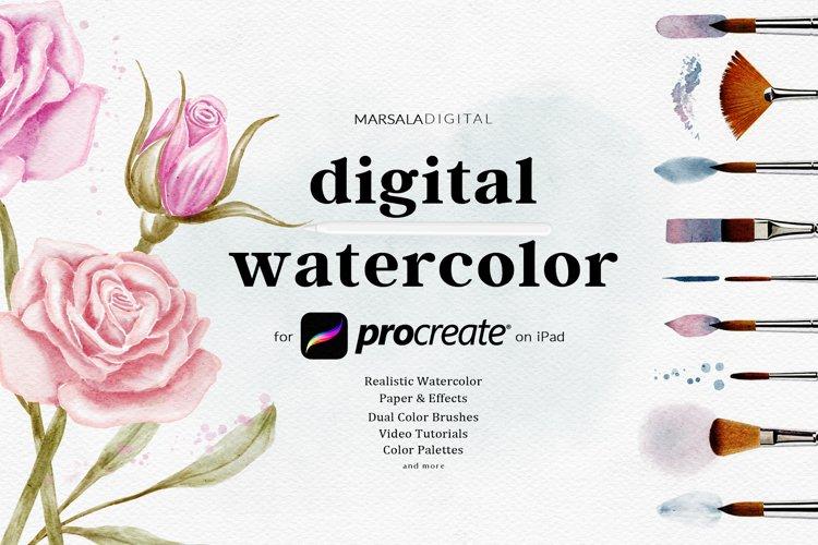 Procreate Watercolour Brush - The Digital Watercolour Kit
