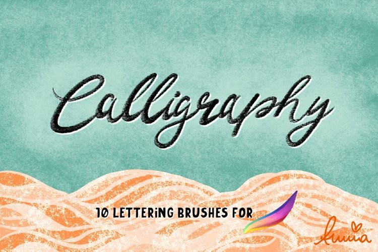 Calligraphy Lettering Brushes for Procreate