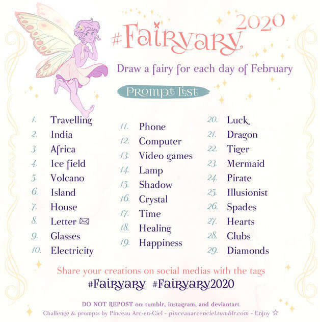 Fairyary February Art Challenge 2021 by pinceau arc en ciel