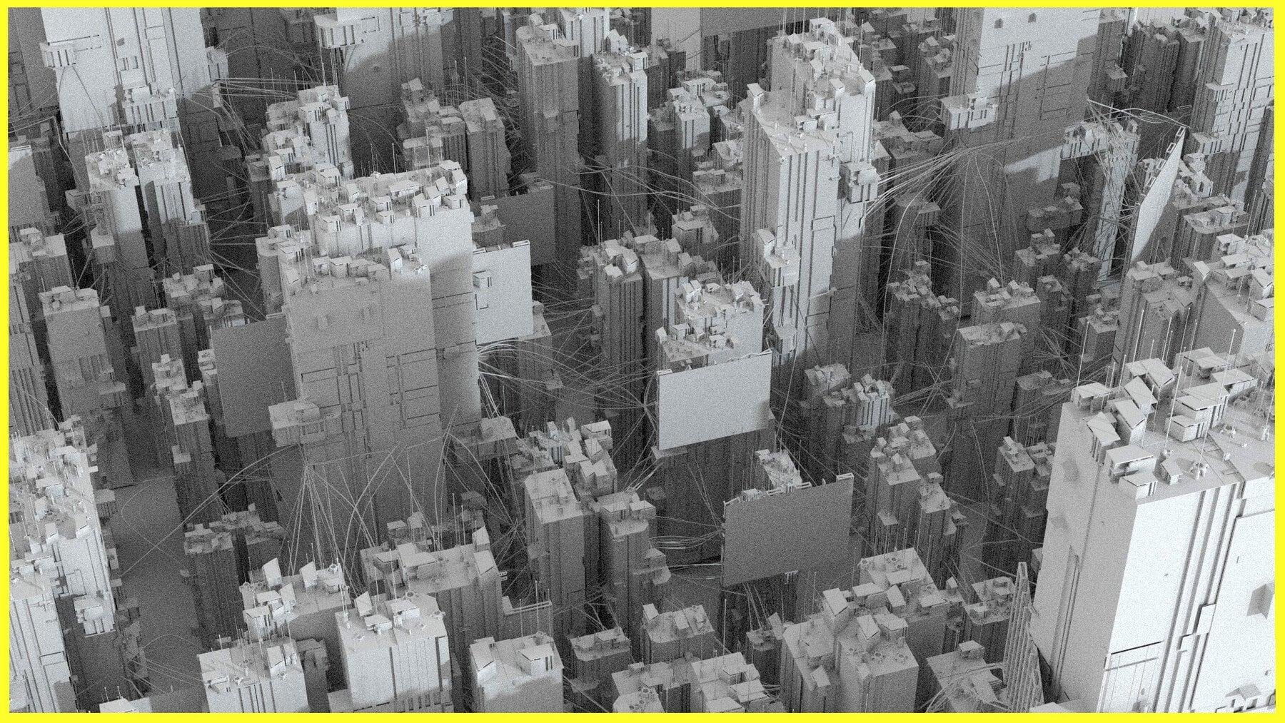 kitbash cyberpunk 3d building elements