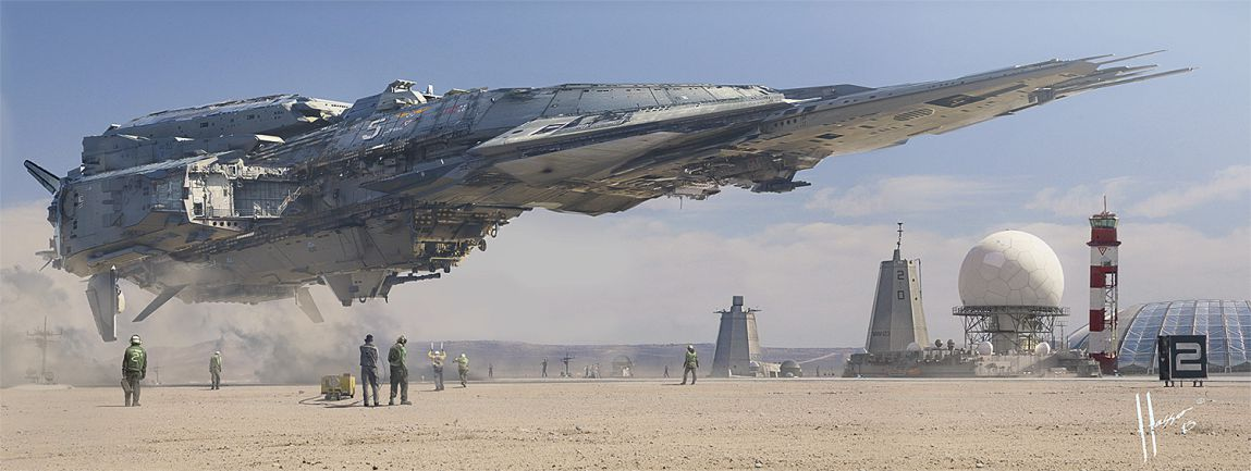 Jaime Jasso Destroyer Landing Matte Painting
